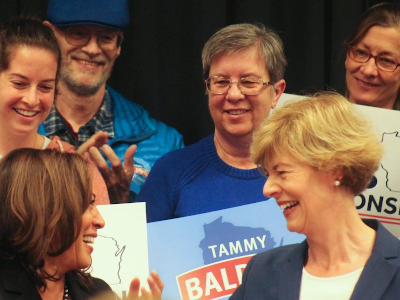 Kamala Harris and Tammy Baldwin.