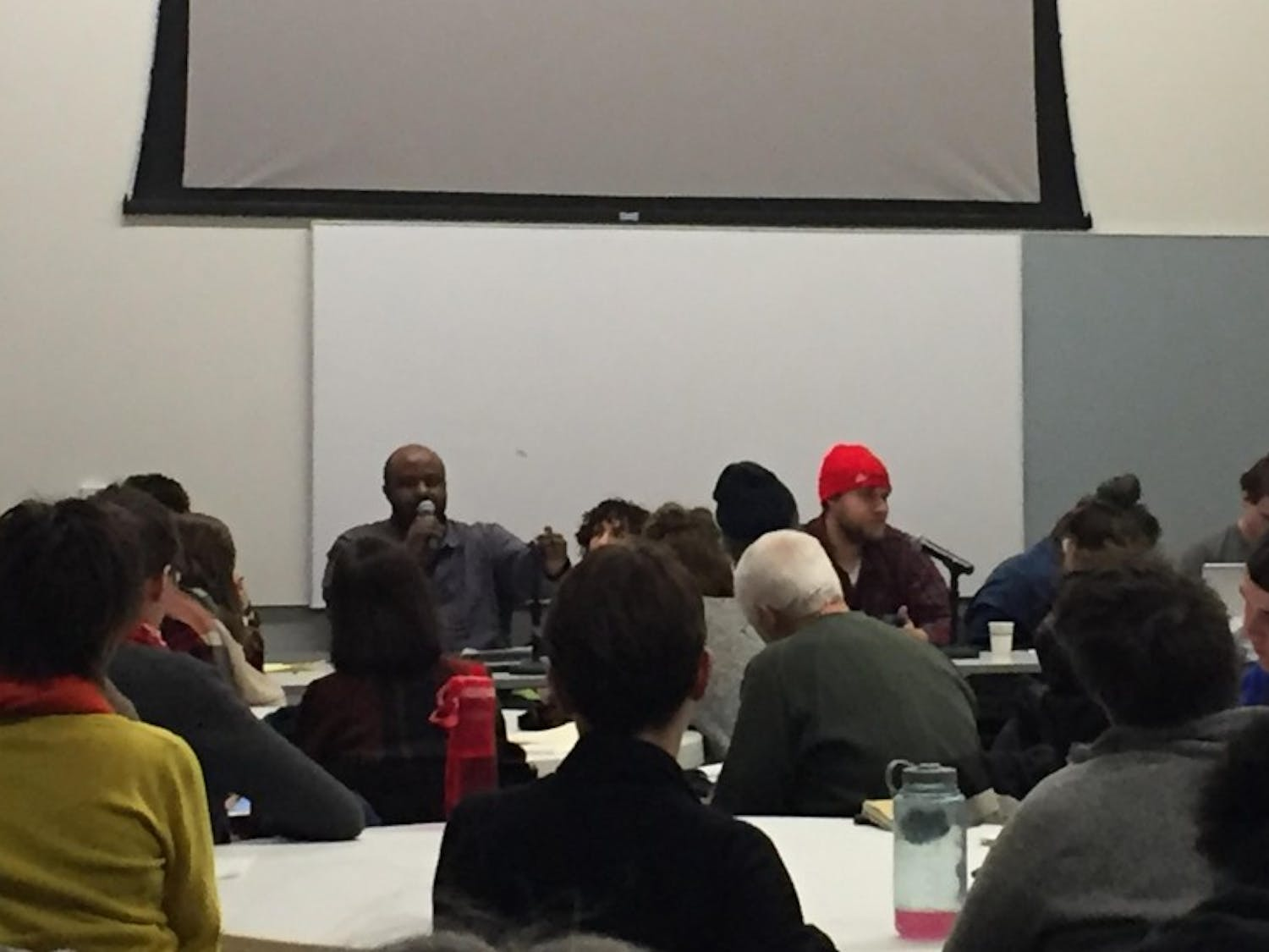 The Derail the Jail movement held a teach-in Monday night in order to increase awareness about what they call racially unjust government practices, specifically surrounding mass incarceration.