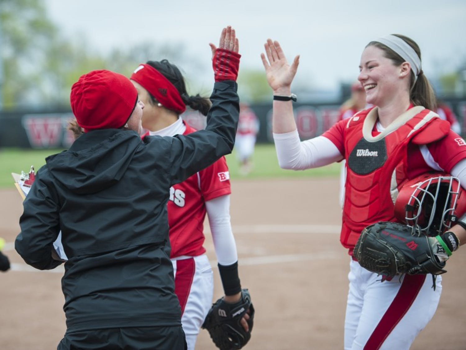 Wisconsin split its first home doubleheader of the year Wednesday at Goodman Diamond.
