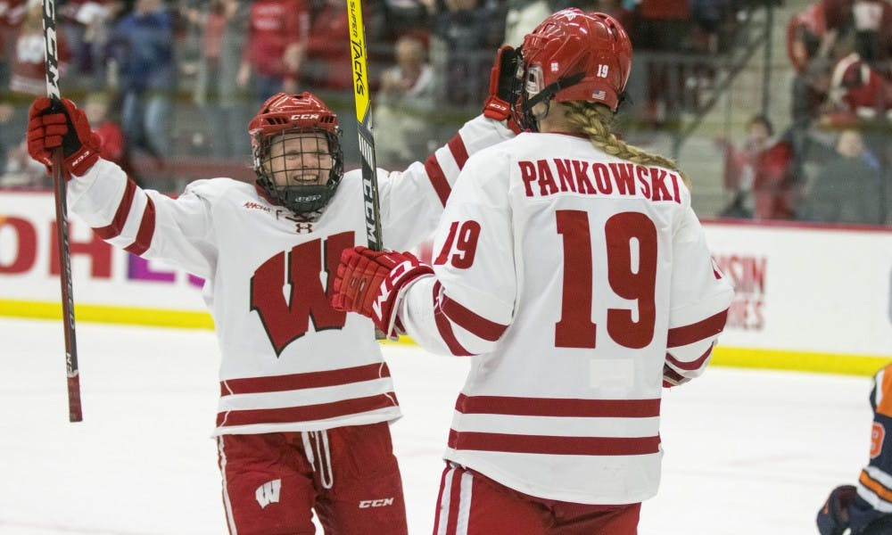 Senior forward Annie Pankowski scored five of Wisconsin's 11 goals in the NCAA tournament as the Badgers captured their fifth national title.