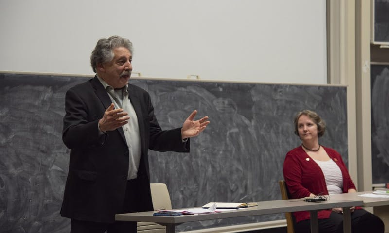 Mayor Paul Soglin and Satya Rhodes-Conway met Tuesday at UW-Madison for a debate one week before the general election to decide Madison's next mayor.