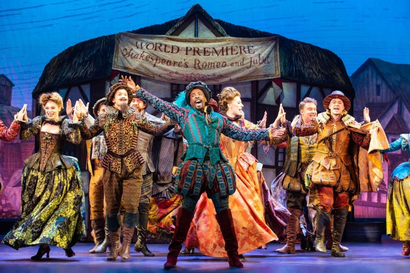 The playful Broadway musical set in Renaissance-era London centered on the plight of brothers Nick and Nigel Bottom and their struggle to become as famous and renowned as William Shakespeare.