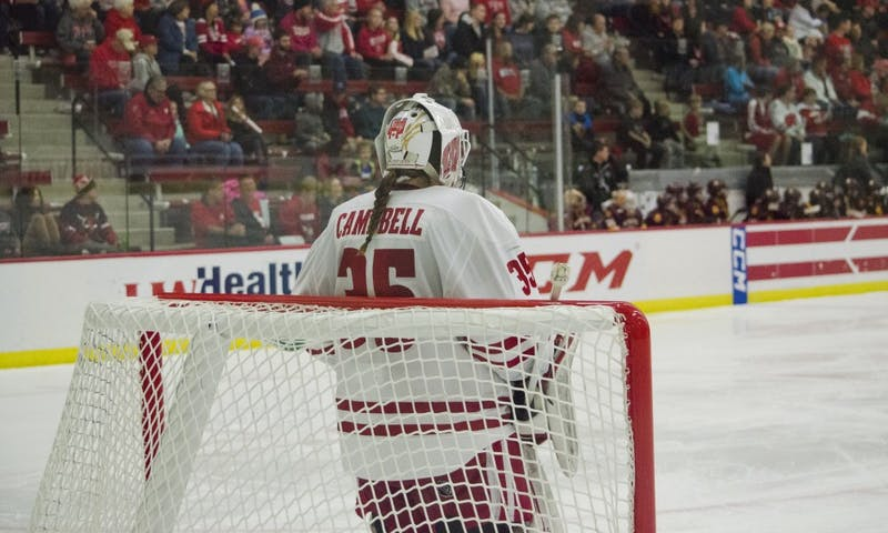 Kristen Campbell recorded a shutout in Wisconsin's 3-0 win over Penn State.