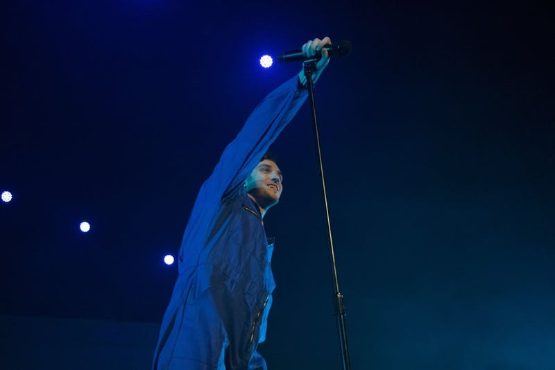 Lauv's magnetic stage presence combined with his obvious love for performing electrified the theater and gave the audience a diverse show filled with fast-paced moments and slow ballads.