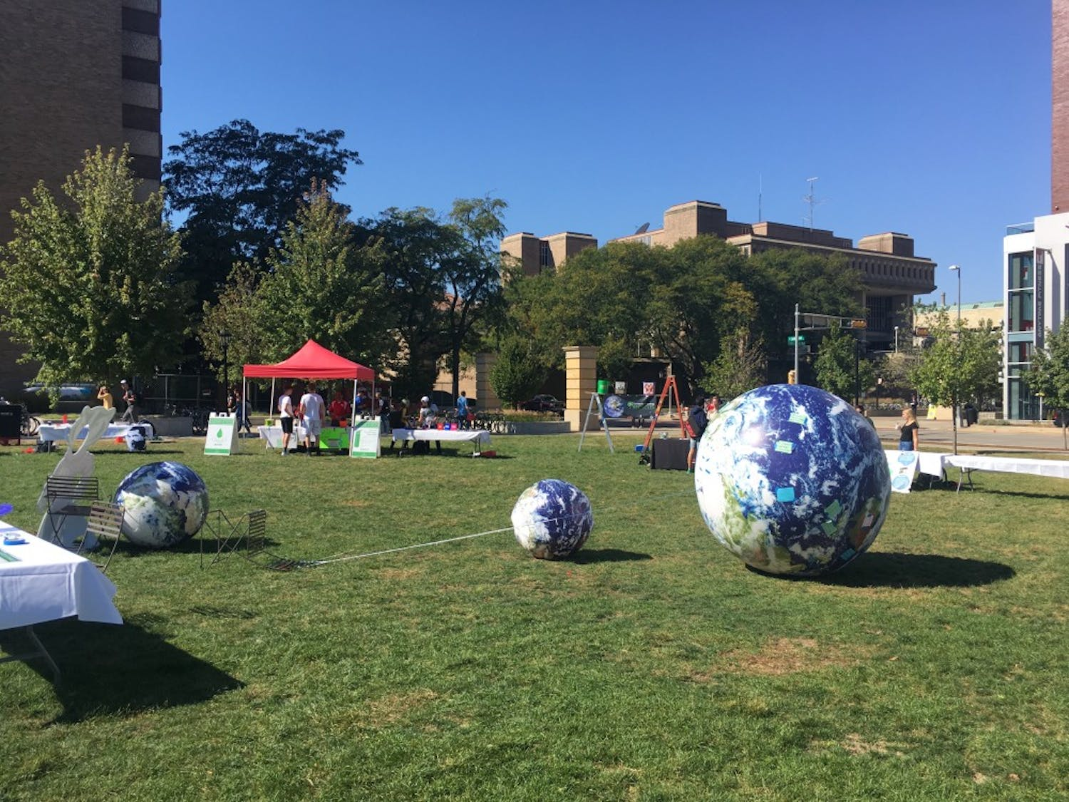 """The """"Sustain-A-Bash"""" took place on Gordon'slawn Sept. 28."""
