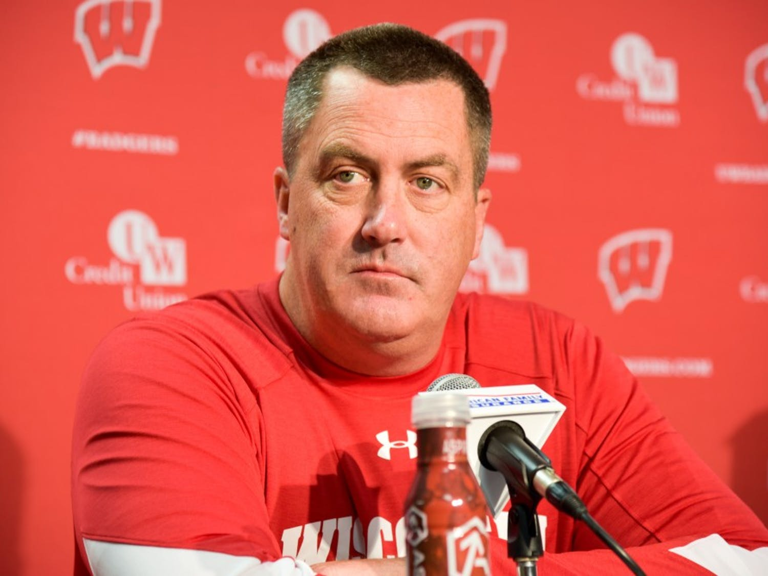 Wisconsin head football coach Paul Chryst talked about the start of Big Ten conference play at a press conference Monday.