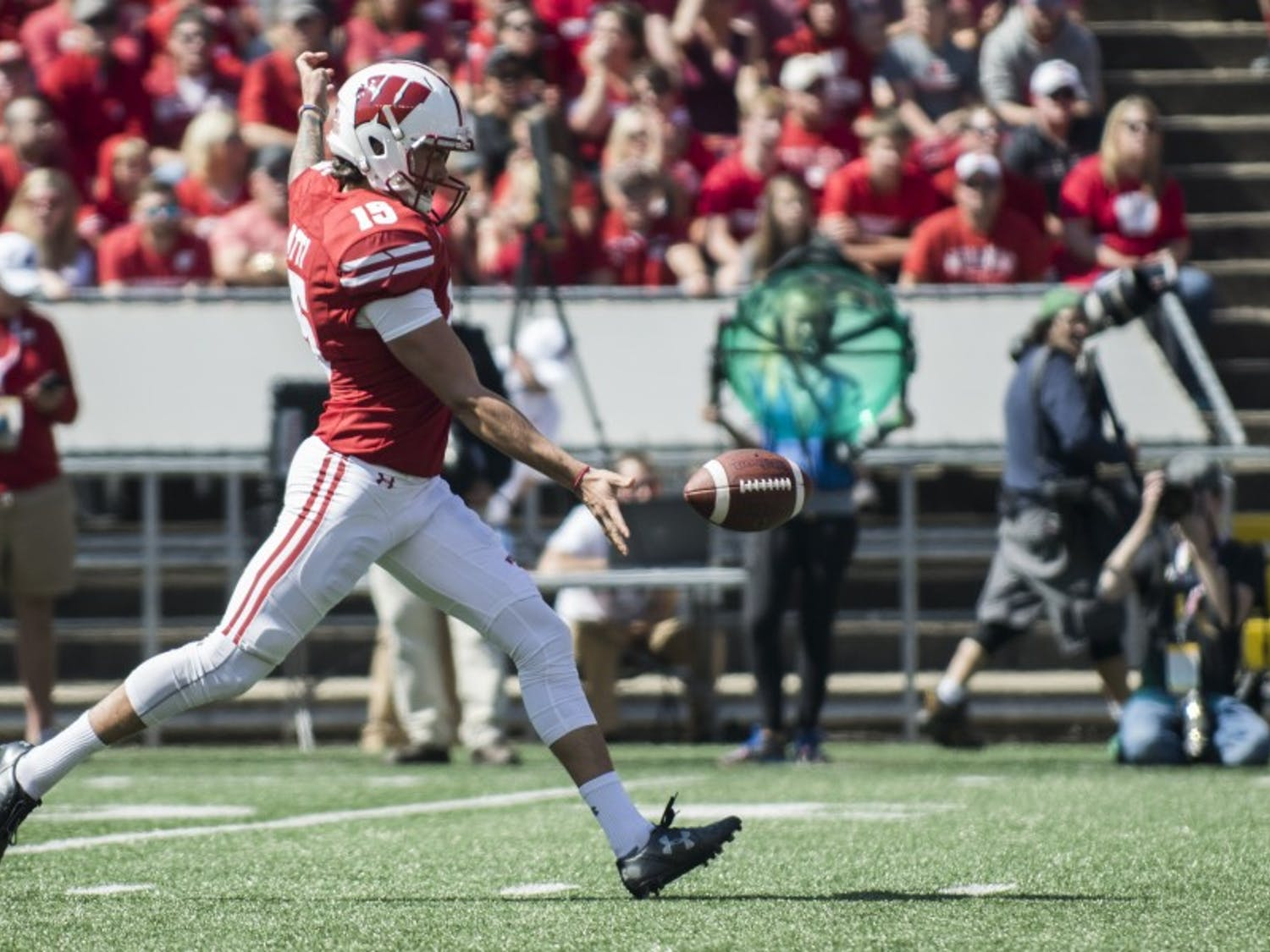 Anthony Lotti was the unsung hero for the Badgers against Iowa, averaging 43.6 yards on five punts.