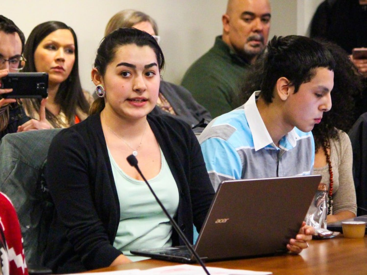 Members of Wunk Sheek spoke Tuesday night in a successful attempt to convince the ASM Finance Committee to grant their appeal.