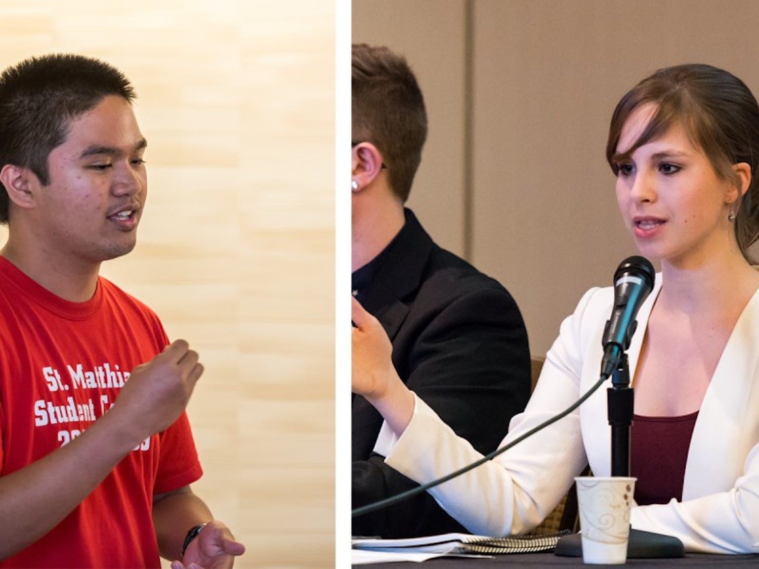 Angelito Tenorio (left) is a current UW-Madison student, and Hayley Young graduated last May. Both are running to be the District 5 representative on the Dane County Board of Supervisors.