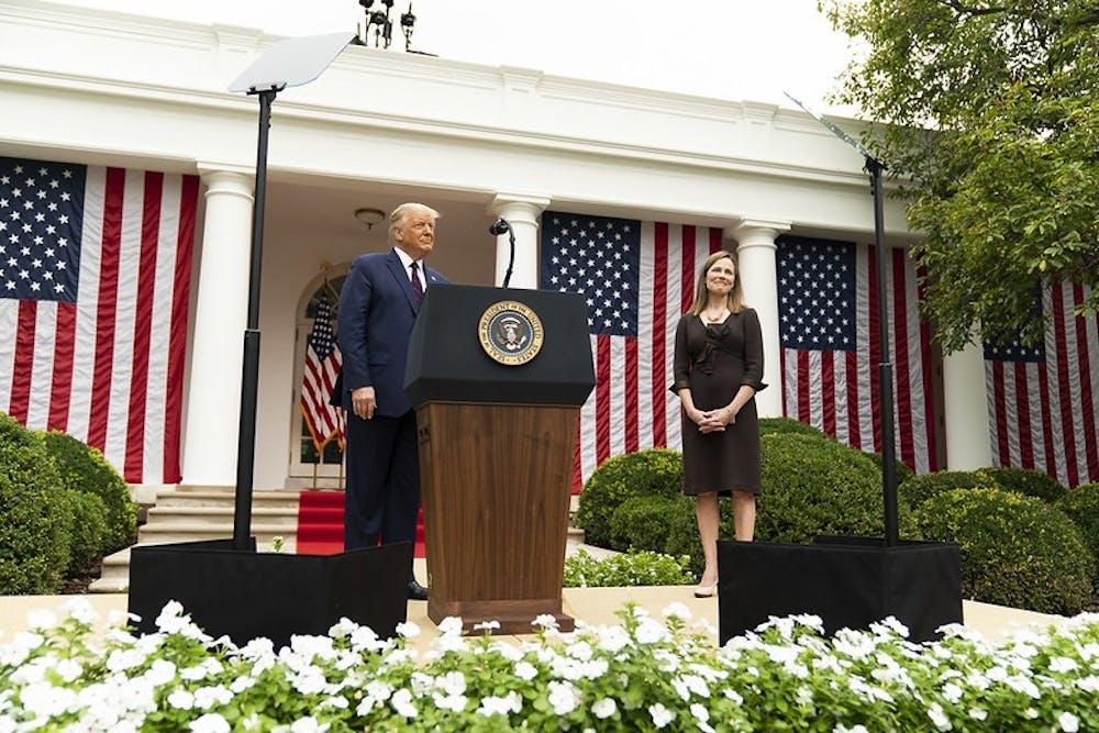 Judge Amy Coney Barrett was selected by President Trump as a nominee to replace Justice Ruth Bader Ginsburg