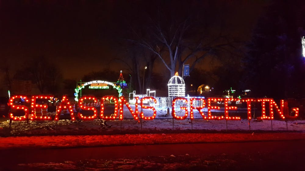A past year's festive and colorful display, known as the Holiday Fantasy in Lights.