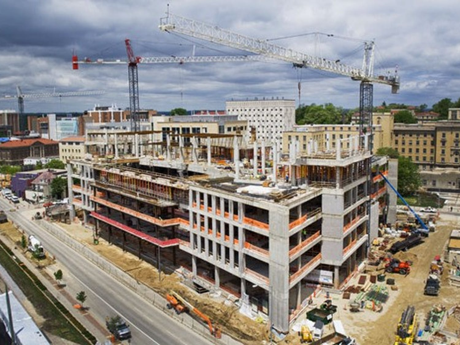 Wisconsin Institutes for Discovery finish external framework phase of construction
