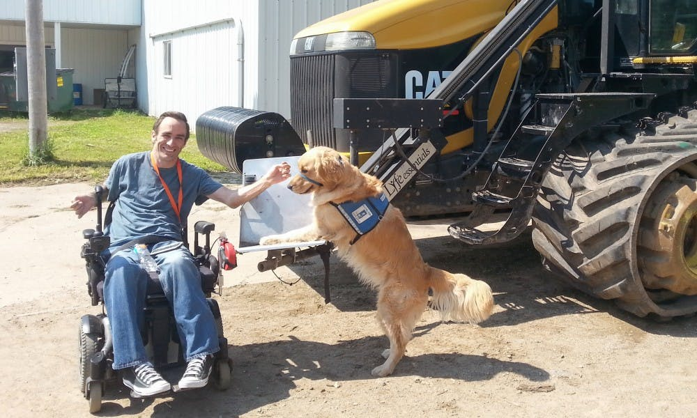 """<p>AgrAbility of Wisconsin, formed through a partnership between the UW Extension<a href=""""http://www.uwex.edu/cooperative-extension"""">&nbsp;</a>and Easter Seals of Wisconsin, provides assistance to an estimated 38,740 Wisconsin farmers with limitations or disabilities &mdash; including chronic illnesses, agriculture or non-agriculture-related injuries, and mental health issues.</p>"""