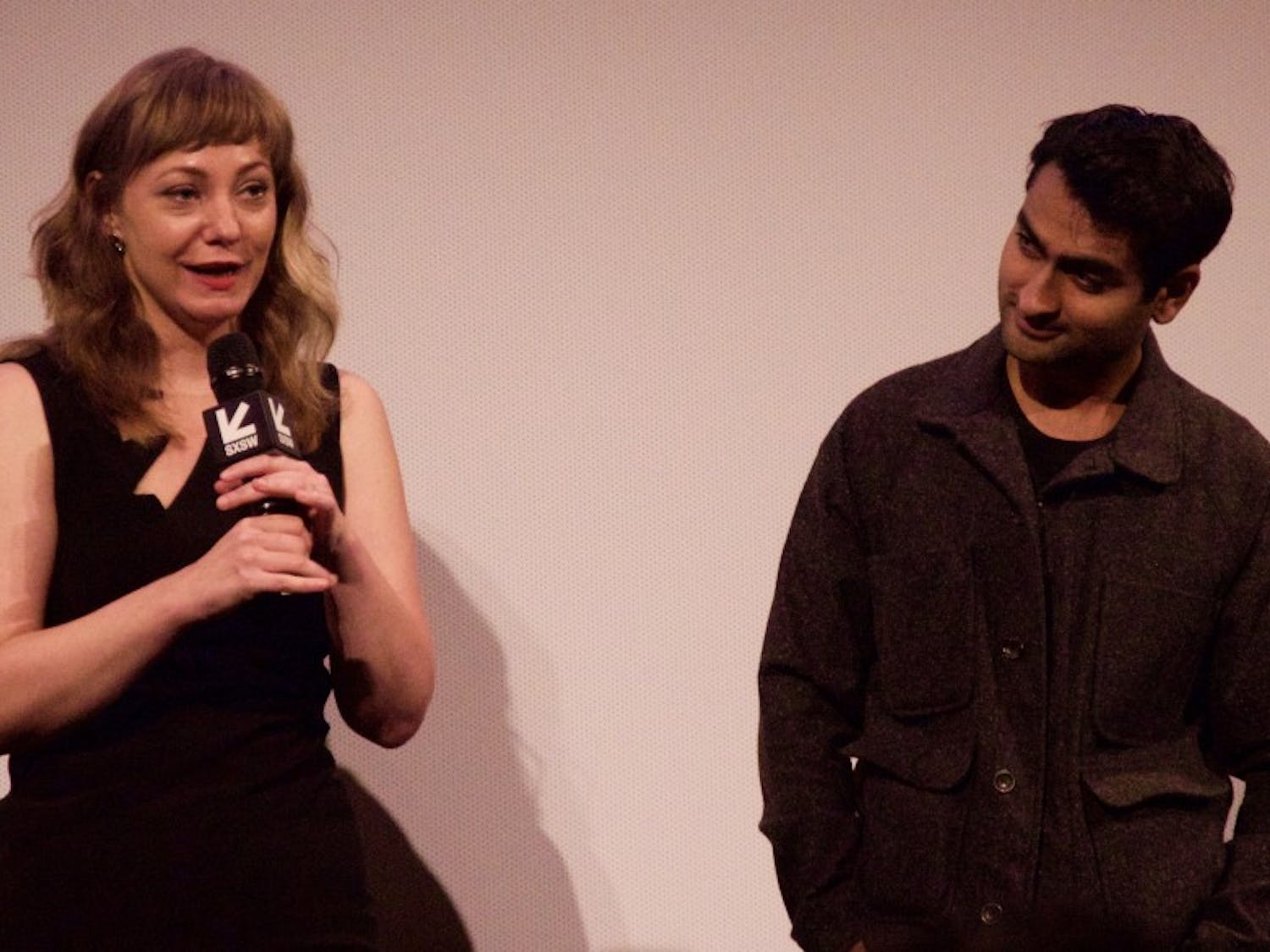 """From Left: Emily Gordon and Kumail Nanjiani co-wrote """"The Big Sick,"""" a story about their own relationship."""