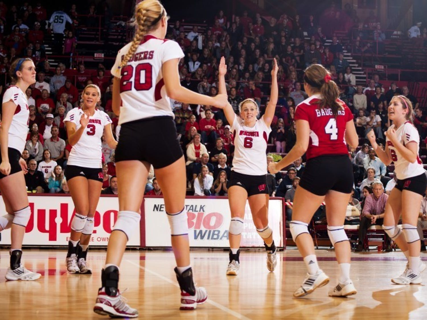 Over 4000 people attended Sunday's match between the University of Wisconsin and the four-time defending NCAA Champion Penn State Nittany Lions. The Badgers came out on top in five sets.