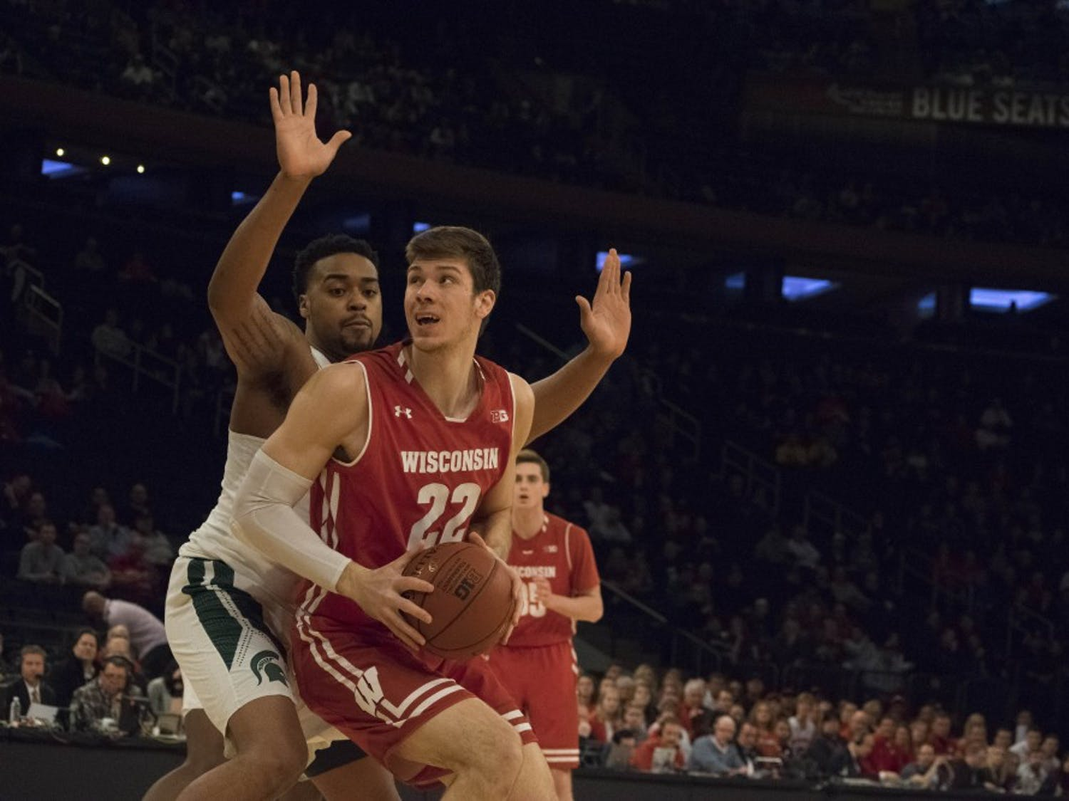 Senior forward Ethan Happ grabbed his 1000th career rebound Saturday against Grambling State.