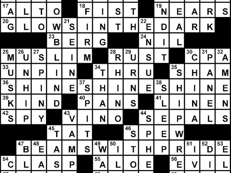 03/01/2011 - Crossword Solution