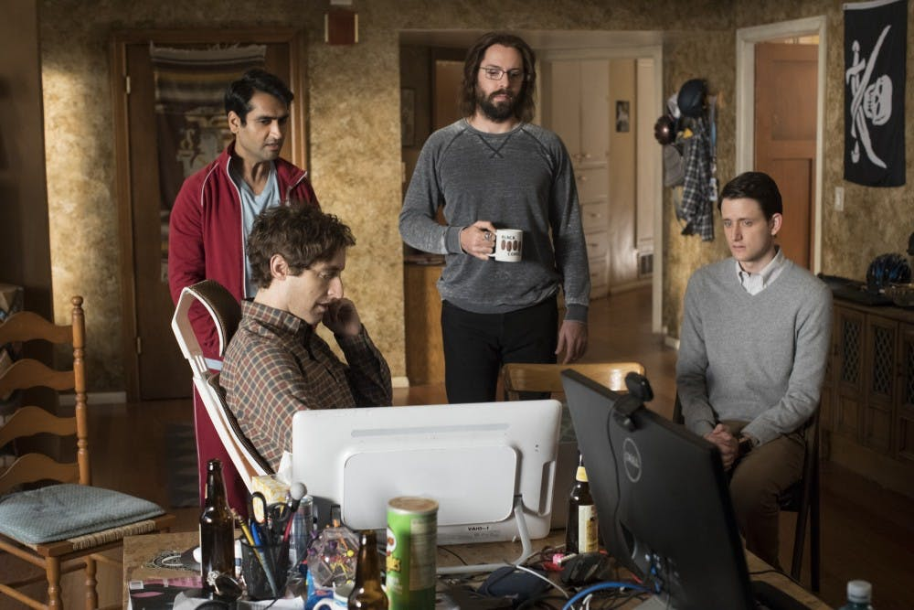 """<p>Thomas Middleditch, Kumail Nanjiani, Martin Starr and Zach Woods star in """"Silicon Valley,"""" the&nbsp;new season premiering tonight at 10 p.m. on HBO.</p>"""