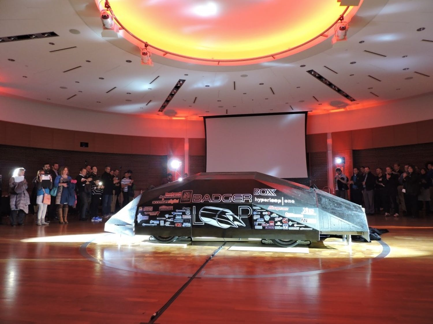 Badgerloop revealed their pod last December at a public event. The 15-foot, 2,100-pound pod did not take an attempt at the test track, but the team received an innovation award for their years' long work.