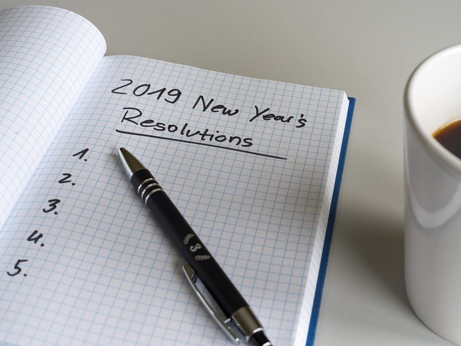 The new year often causes many to make New Year's resolutions.