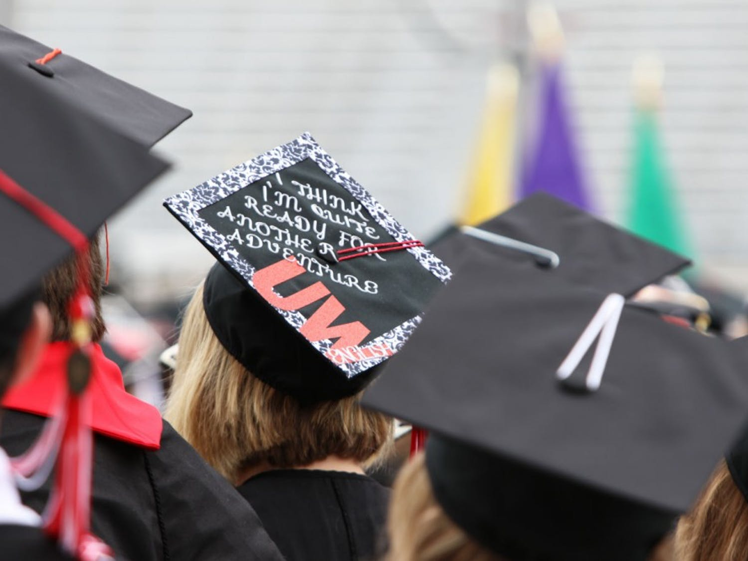 The UW community, friends and family gathered Saturday for the Spring Commencement Ceremony at Camp Randall Stadium. Among the guests celebrating the occasion was keynote speaker and journalist Katie Couric.