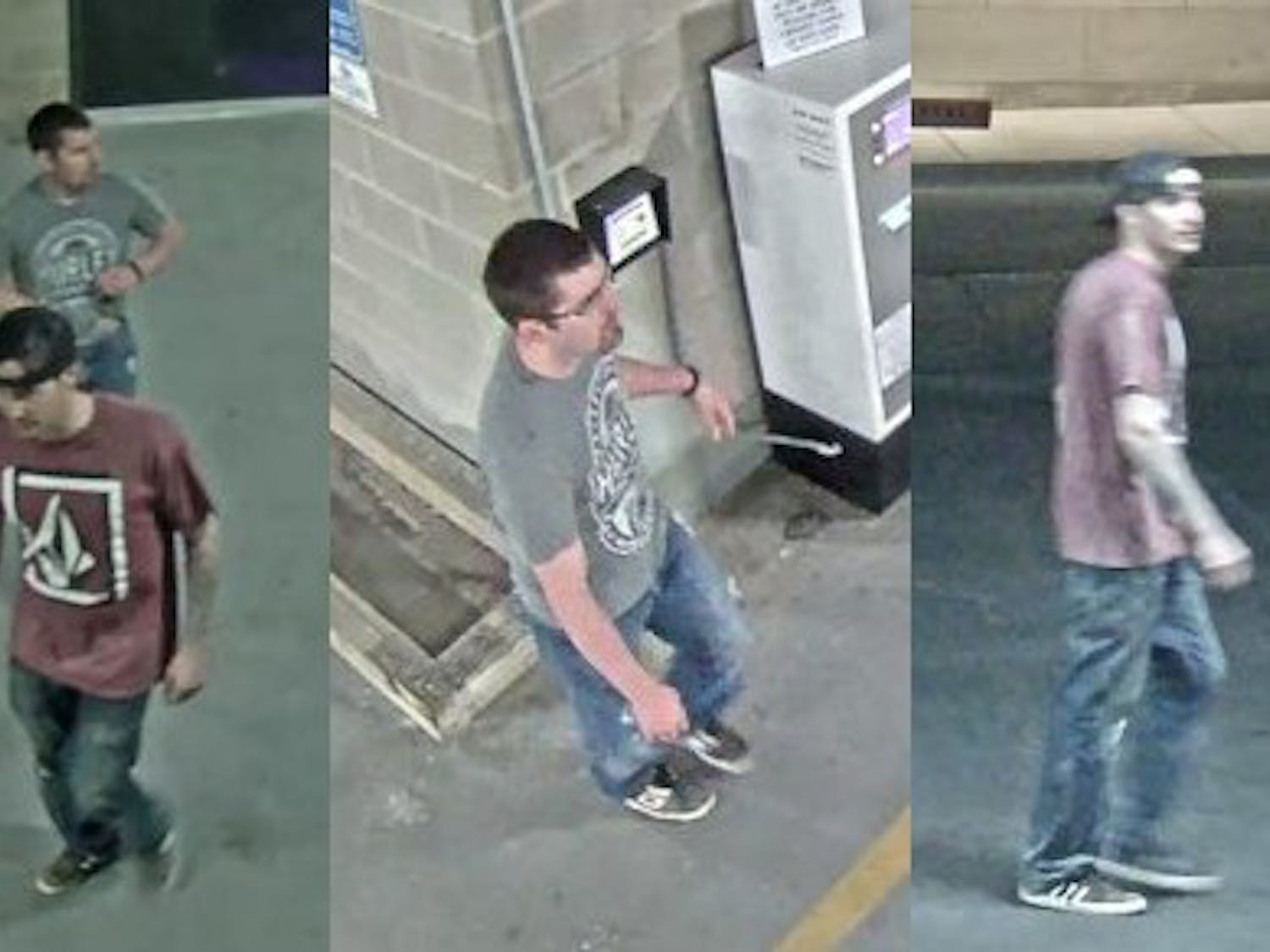 Video surveillance showedthe two individuals had been in a construction area and damaged property inside the building.