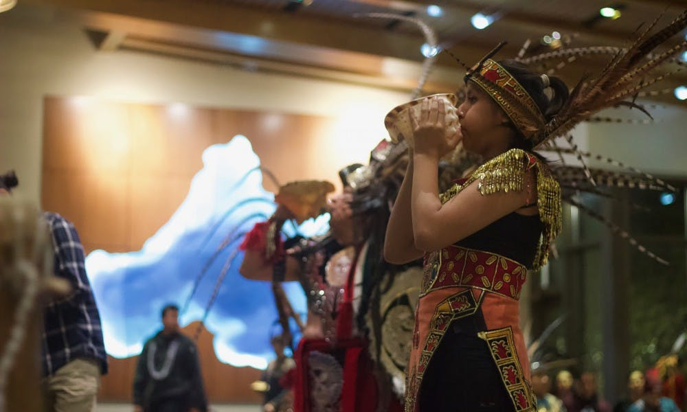 <p>Native groups came together to celebrate their customs on the state's new holiday.</p>