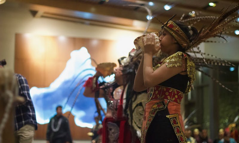Native groups came together to celebrate their customs on the state's new holiday.