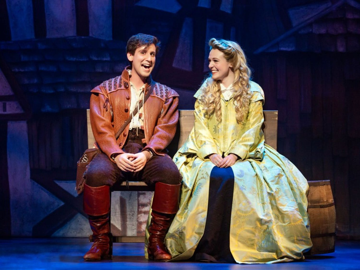 Spitaletta, pictured above with co-star Jennifer Elizabeth Smith, leads the touring cast of the Broadway musical.
