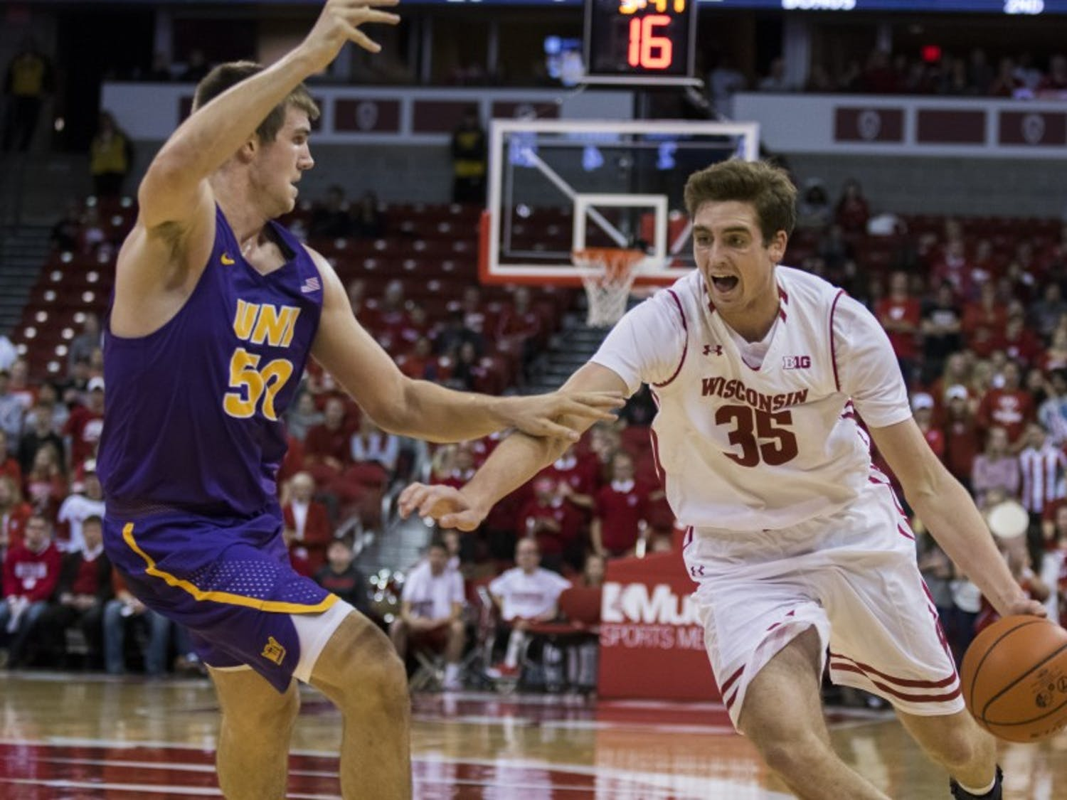 Despite a strong performance from sophomore forward Nate Reuvers, the Badgers fell short to the Maryland Terrapins.
