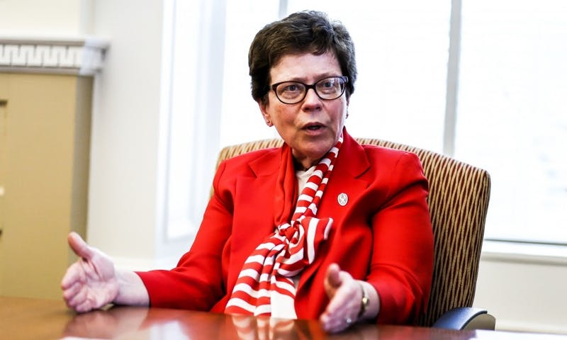 The Daily Cardinal sat down with Chancellor Rebecca Blank to discuss budget, freedom or speech, direct admits and more.