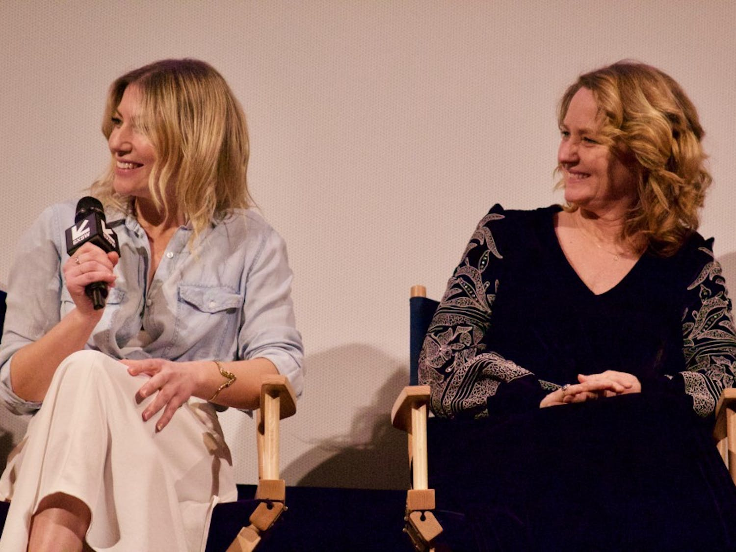 """From left: Ari Graynor and Melissa Leo share their upcoming Showtimeseries, """"I'm Dying Up Here."""""""