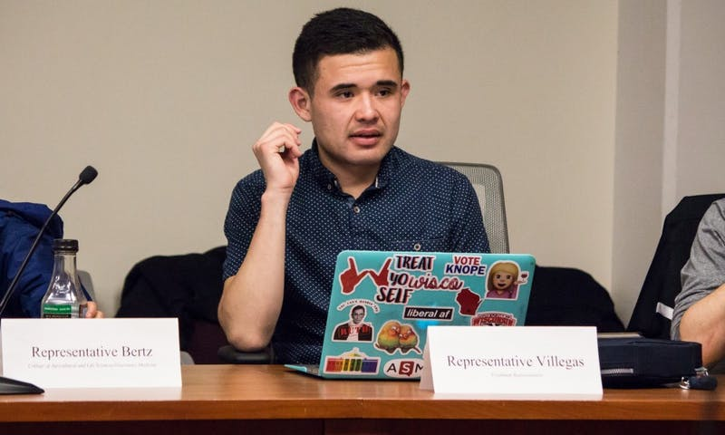 Rep. Diego Villegas walked out of a Student Council meeting when the Financial Transparency and Ethics Subcommittee proposal was brought to a vote during Passover.