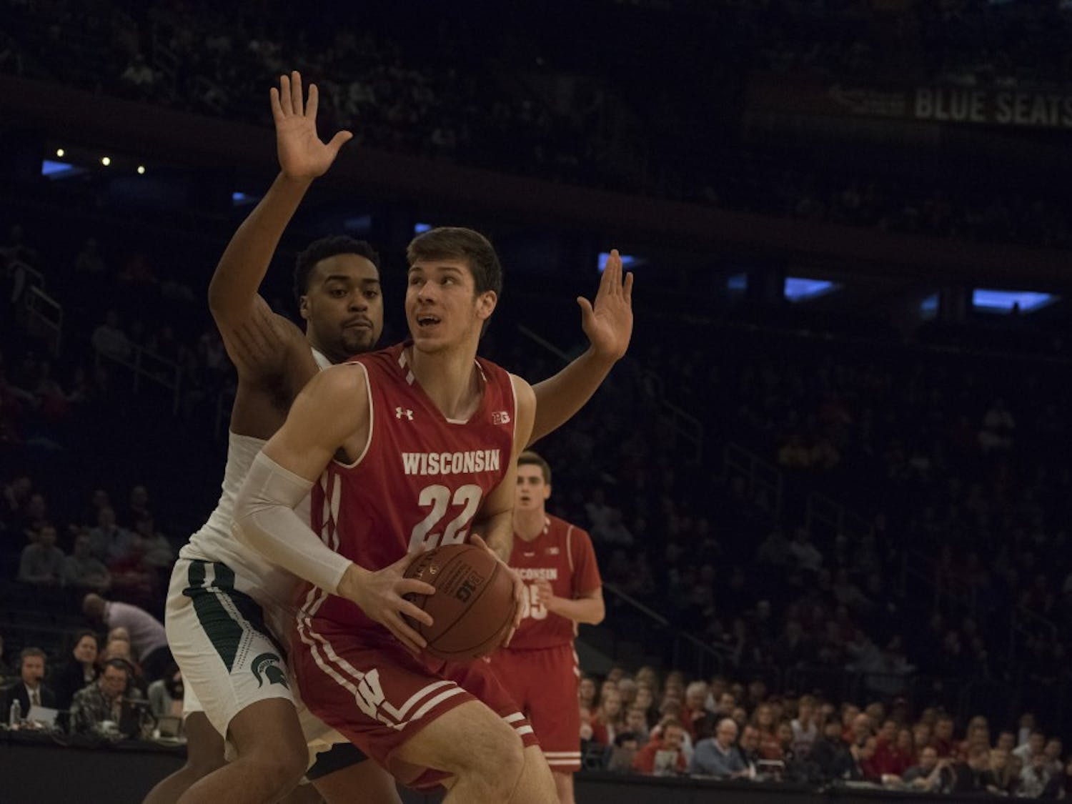 Ethan Happ and the Badgers came up three points short of Michigan State on Friday.