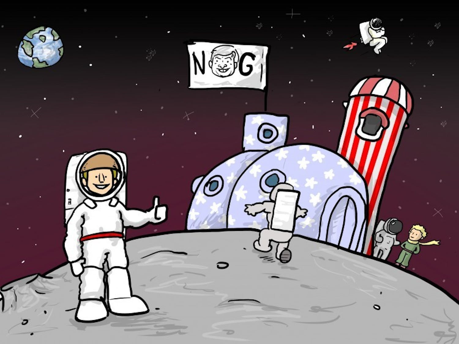 Gingrich moon colony