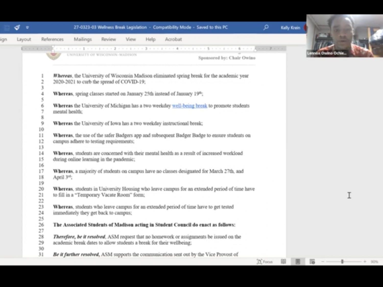 Screenshot of ASM meeting.