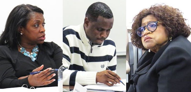 Alder-elects Sheri Carter, District 14 (left), Samba Baldeh, District 17 (middle) and Barbara McKinney, District 1 (right) will join the City Council April 21.