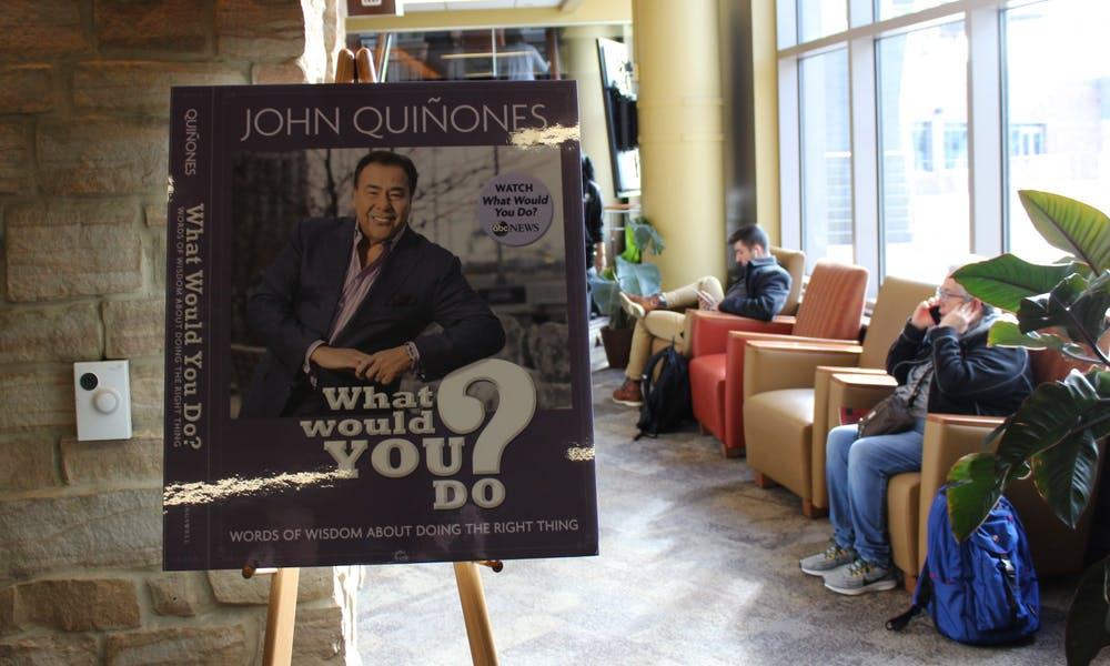 "Host of hidden camera show ""What Would You Do?"" John Quiñones gave the keynote address at UW-Madison's 2019 Diversity Forum Tuesday, sharing his journey as a TV reporter and encouraging everyone to be active bystanders."