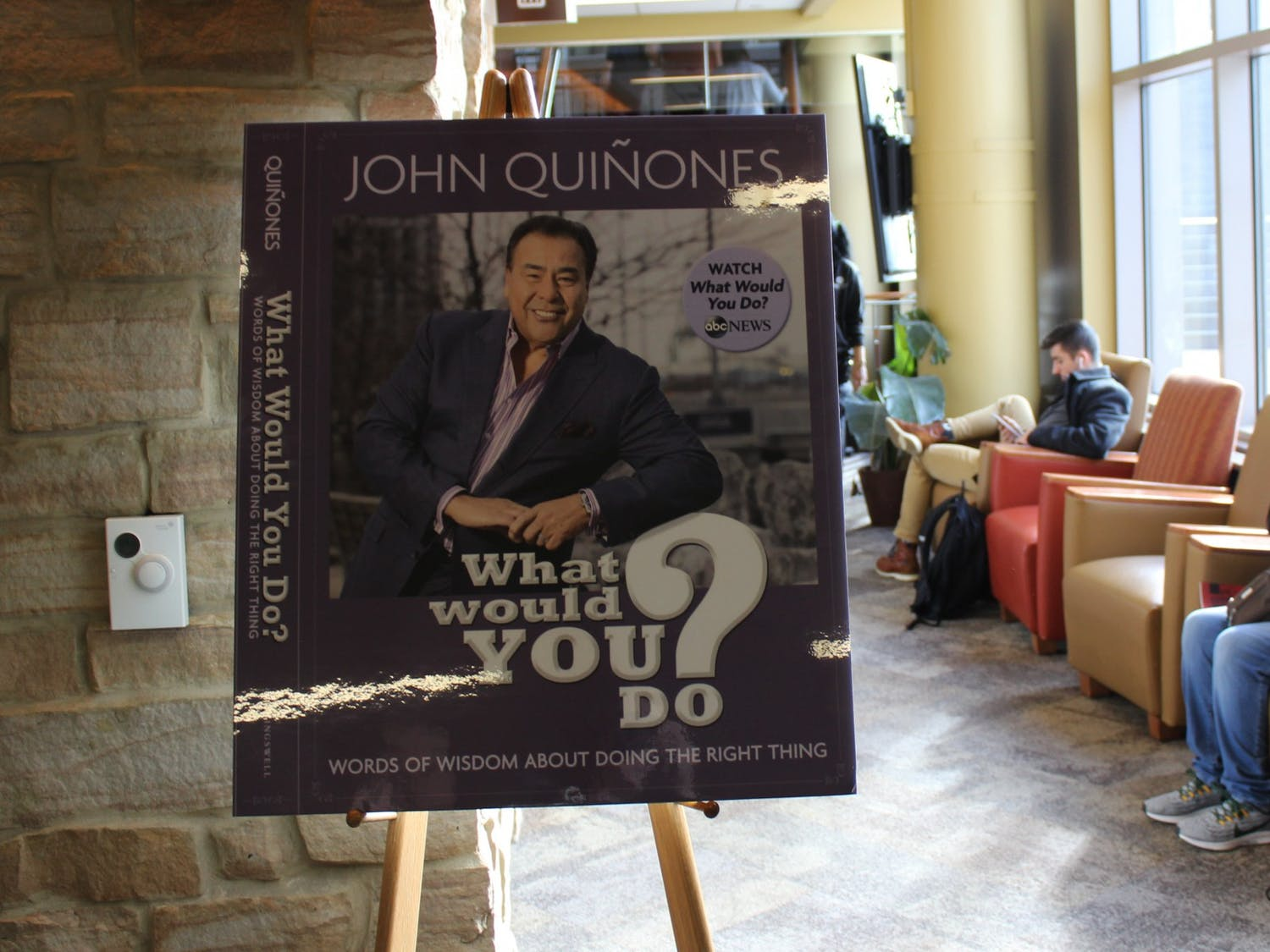 """Host of hidden camera show """"What Would You Do?"""" John Quiñones gave the keynote address at UW-Madison's 2019 Diversity Forum Tuesday, sharing his journey as a TV reporter and encouraging everyone to be active bystanders."""