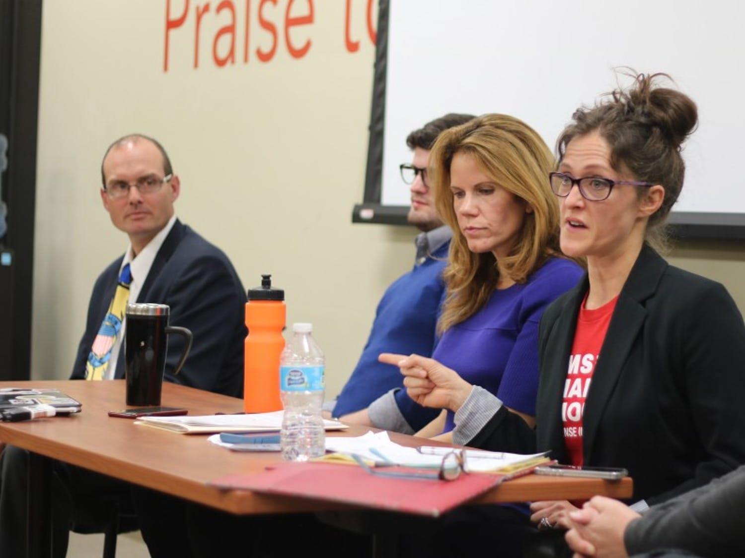 State Reps. Chris Taylor, D-Madison, and Jesse Kremer, R-Kewaskum, squared off Monday at Union South to debate potential campus carry effects.
