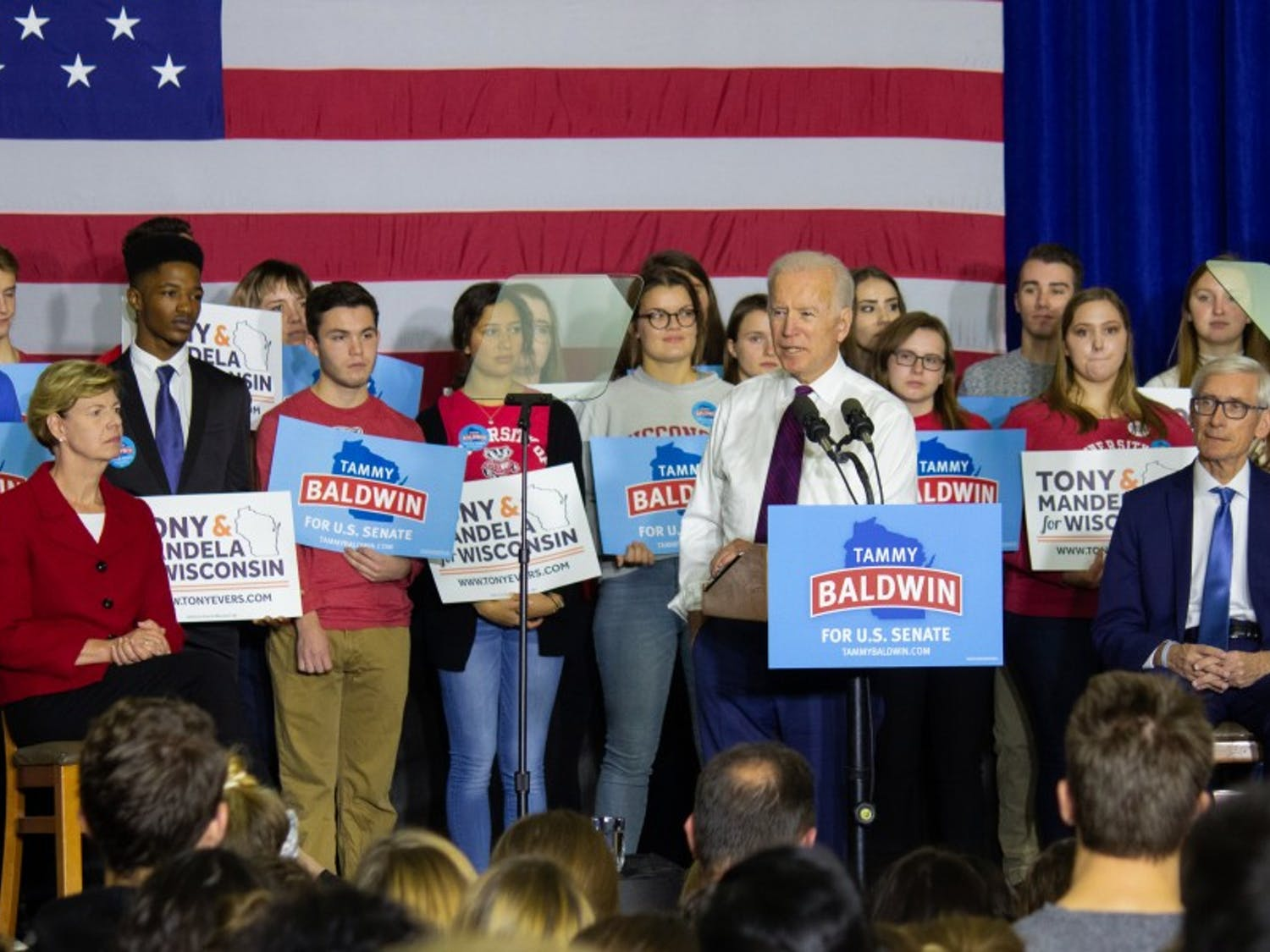 As high profile names flood Wisconsin leading up to next week's midterm election, former Vice President Joe Biden spoke in Madison to encourage voter turnout.