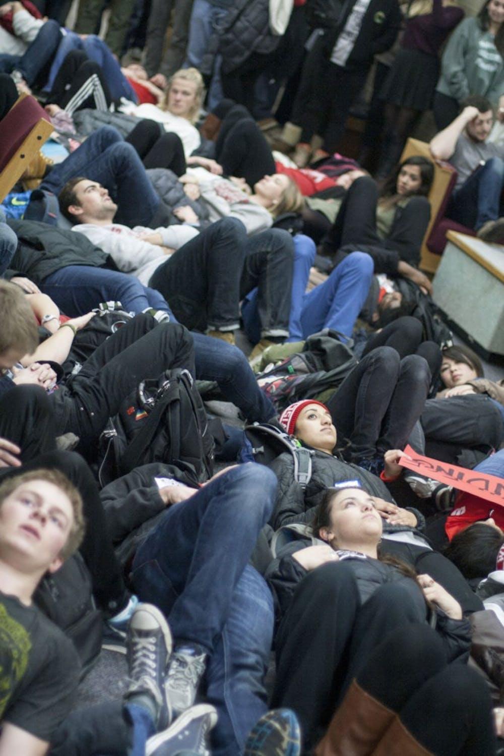 Die-in Protesters