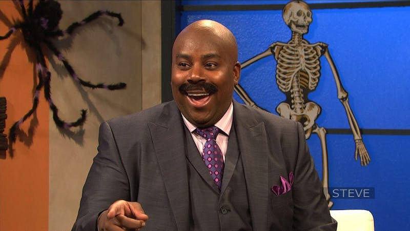 """The incomparable Kenan Thompson returns for his sixteenth year on """"SNL"""". This will also mark the final season for cast member Leslie Jones."""
