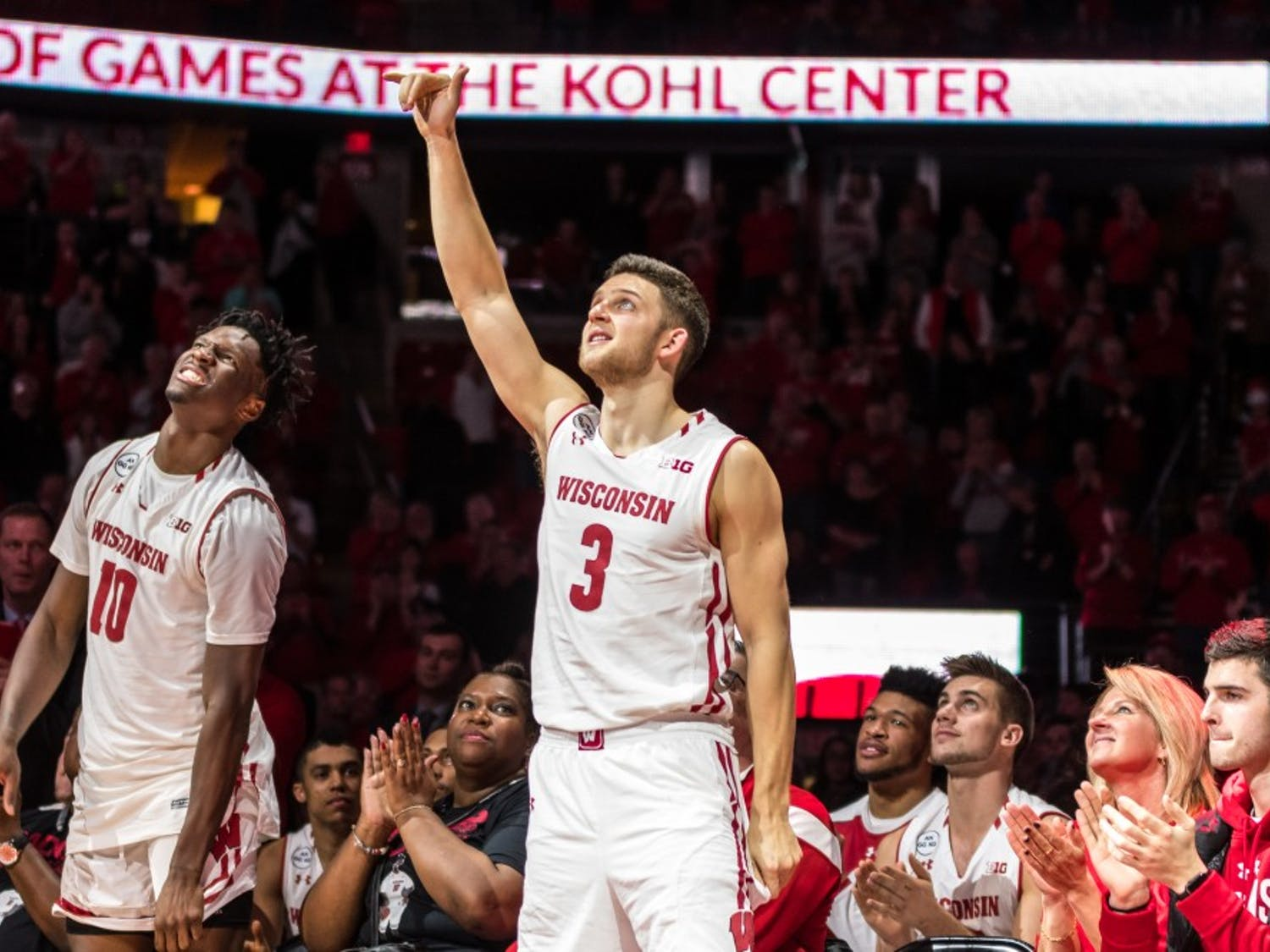 Gallery: Seniors lead Badgers to key victory in last appearance on Kohl Center floor