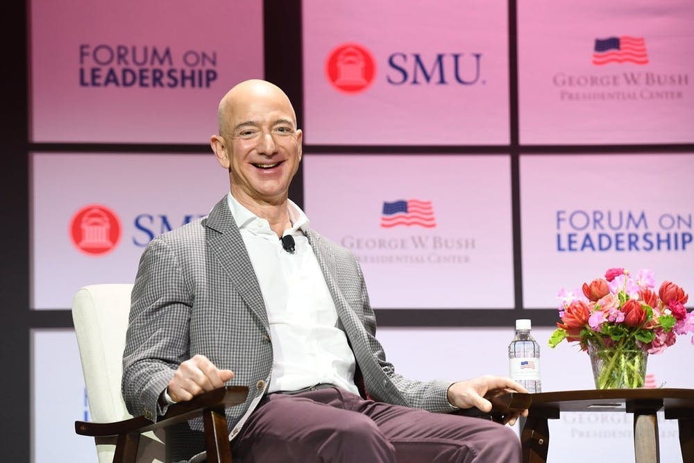 <p>Bezos' net worth is $186 billion, while 38.1 million people live below the poverty line in America as of 2018&nbsp;</p>