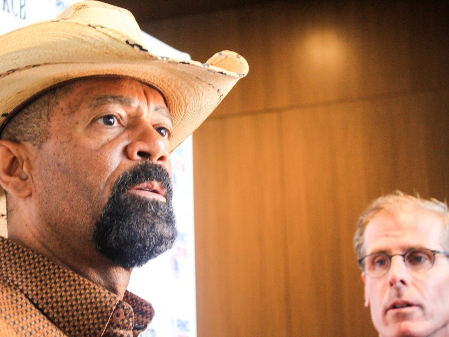 Milwaukee County Sheriff David A. Clarke Jr. wants his officers to have power to enforce President Donald Trump's immigration ban.
