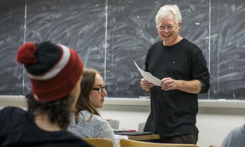 Professor Rand Valentine, who lived with an isolated Ojibwe tribe in Canada during the 1980s, teaches four different levels of Ojibwe at UW-Madison.