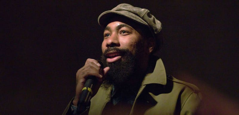 F.Stokes, a Madison native, brought his hip-hop show to The Sett Saturday night sharing stories of his upbringing with the audience.
