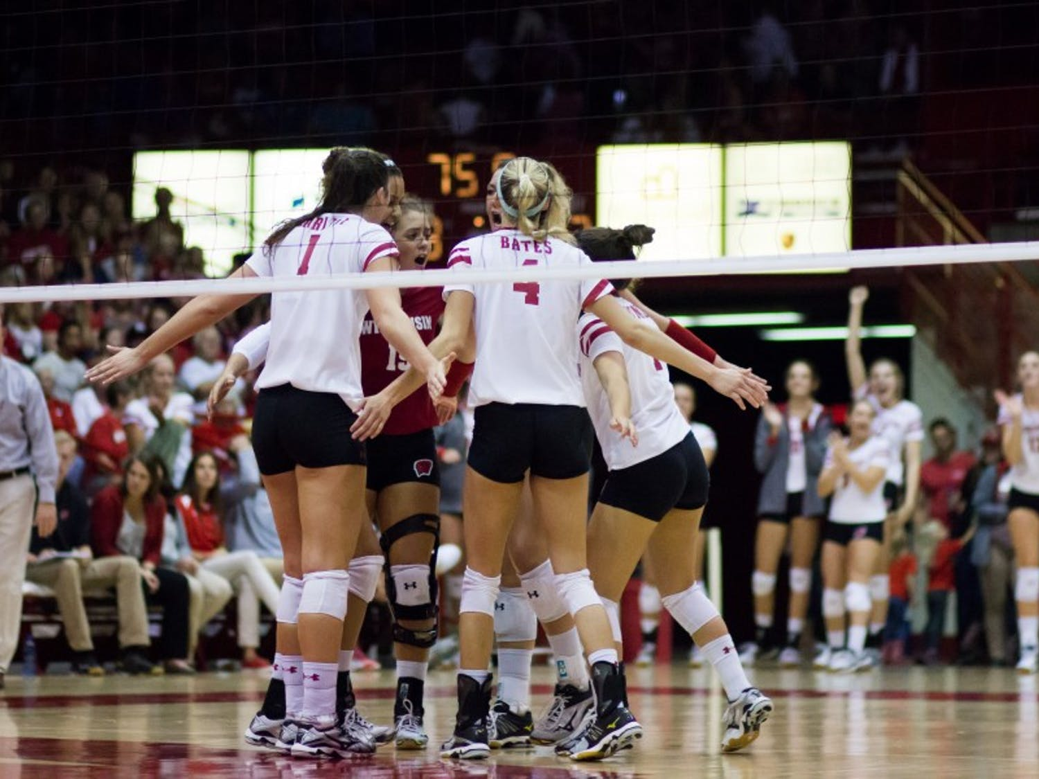 The Badgers remained perfect in the Big Ten after a comeback victory over No. 14 Purdue and a sweep of Indiana.