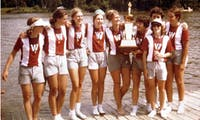 Wisconsin's women's rowing team captured the first women's national title in school history in 1975.